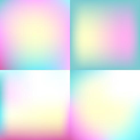 sweet color blurred background set . pastel color design