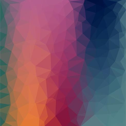 Abstracte kleurrijke laag poly vector achtergrond met warme verloop