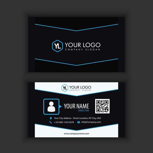Modelo de cartão moderno criativo e limpo com cor azul escuro
