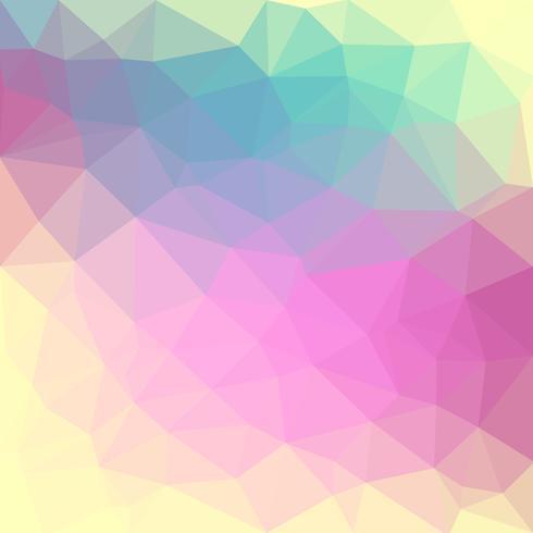 Color pastel claro vector Fondo de cristal poli bajo. Patrón de diseño de polígonos. Fondo de ilustración de baja poli.