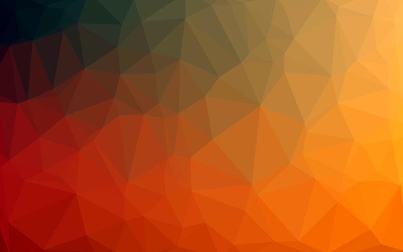 Abstract Colorful Low poly Vector Background with orange gradien