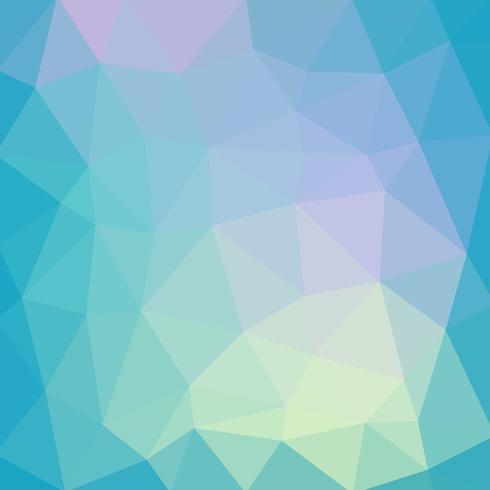 Hellblauer glatter Vektor Niedriger Polykristallhintergrund. Polygon de