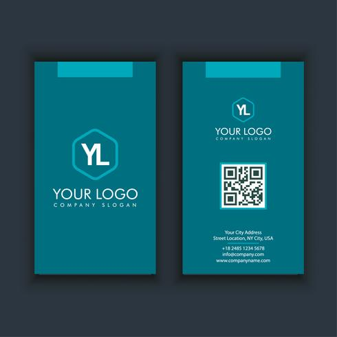 Modern Creative and Clean Business Card Template with blue color