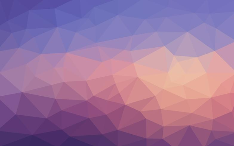 Light blue purple vector Low poly crystal background. Polygon de