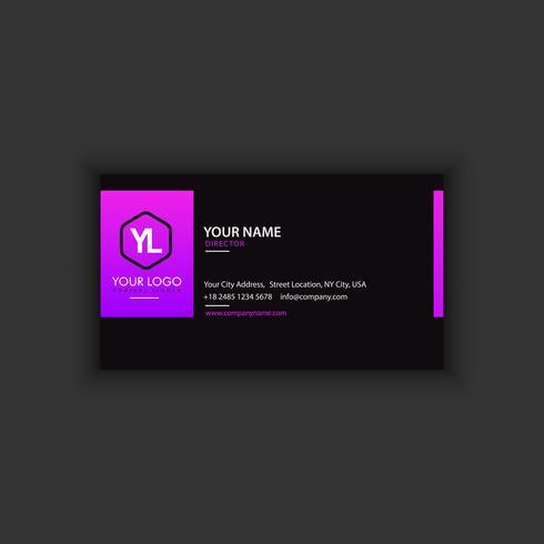 Moderne kreative und saubere Visitenkarte-Schablone mit lila bla
