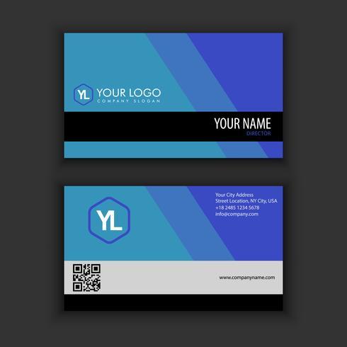 Modello moderno creativo e pulito del biglietto da visita con colore blu scuro