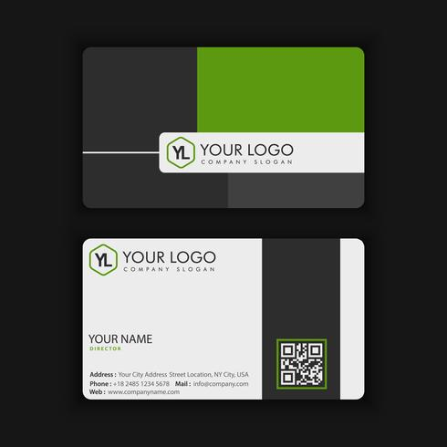 Modern Creative and Clean Business Card Template with green color