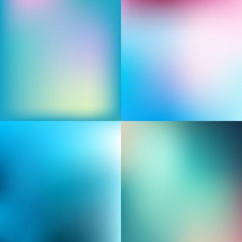 Conjunto de fondos abstractos azules coloridos abstractos del vector