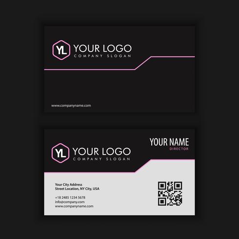 Modelo de cartão moderno criativo e limpo com cor escura roxo