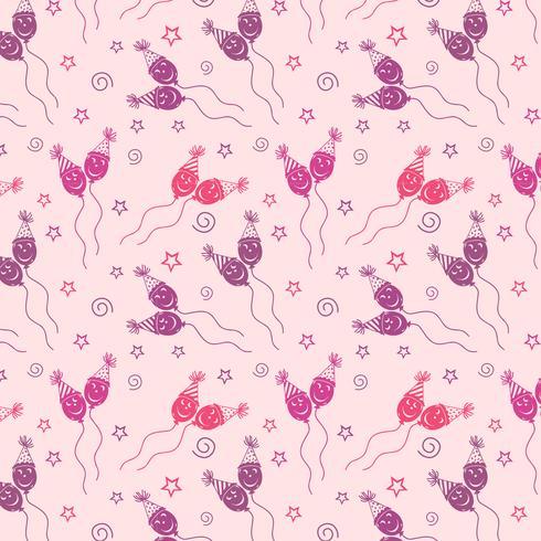 Modello di buon compleanno Sfondo con colore viola