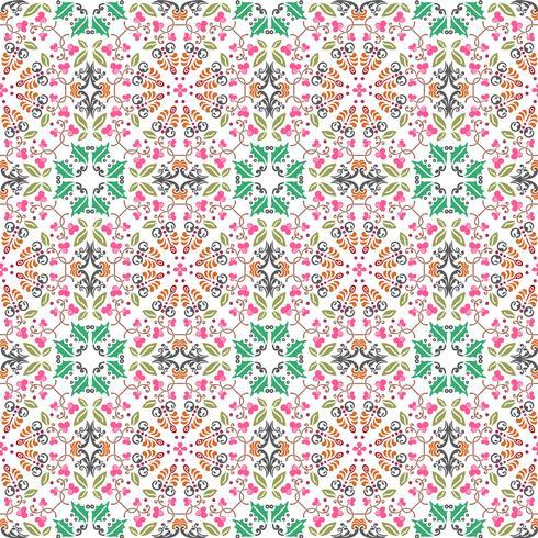 patrón floral transparente con fondo de color liso