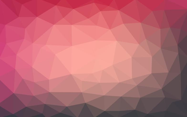 Vetor de luz vermelha escura Baixa fundo de cristal poli. Polígono desig