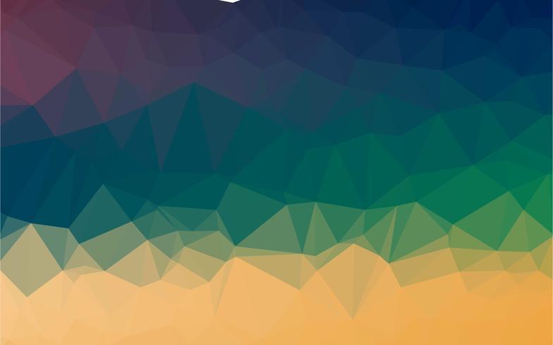 Astratto colorato poli basso sfondo vettoriale con gradiente caldo modello futuristico.