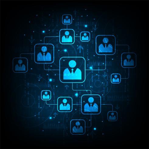 Netzwerk von Kommunikationssystemen.