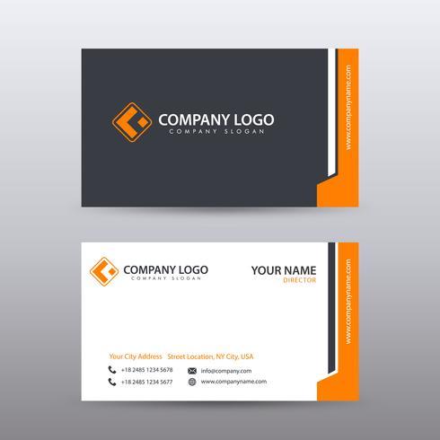 Moderne kreative und saubere Visitenkarte-Schablone mit orange Bla
