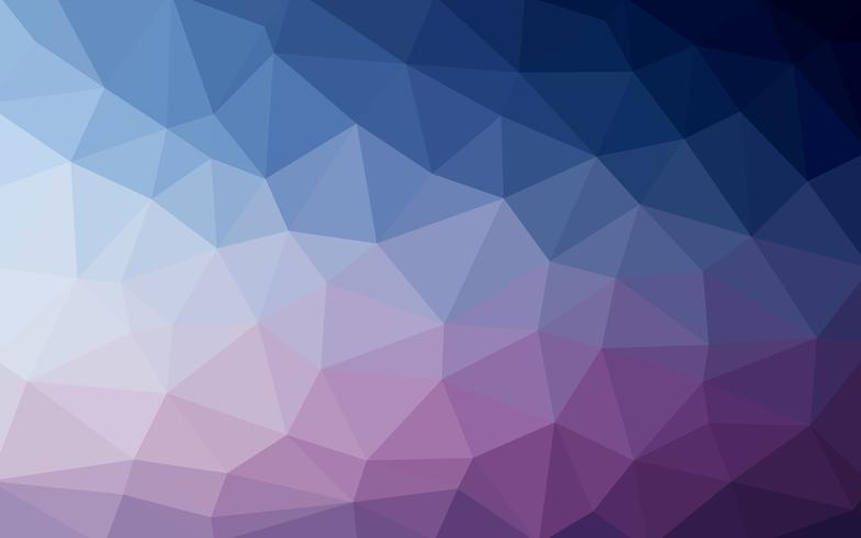 Lichtblauwe paarse vector Lage polykristalachtergrond. Polygon de