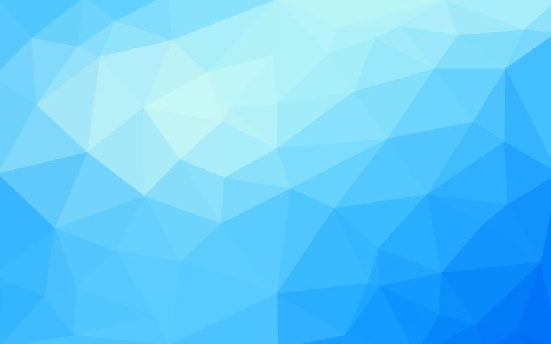 Light blue vector Low poly crystal background. Polygon design pa