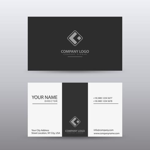 Moderne kreative und saubere Visitenkarte-Schablone mit dunkler Farbe