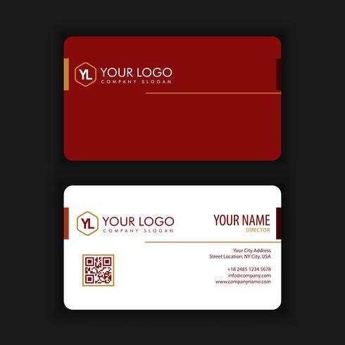Modern kreativ och ren visitkort med röd svart