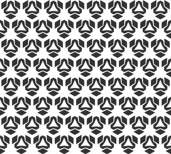 Modello senza cuciture geometrico astratto. Ripetendo geometrica trama in bianco e nero. decorazione geometrica