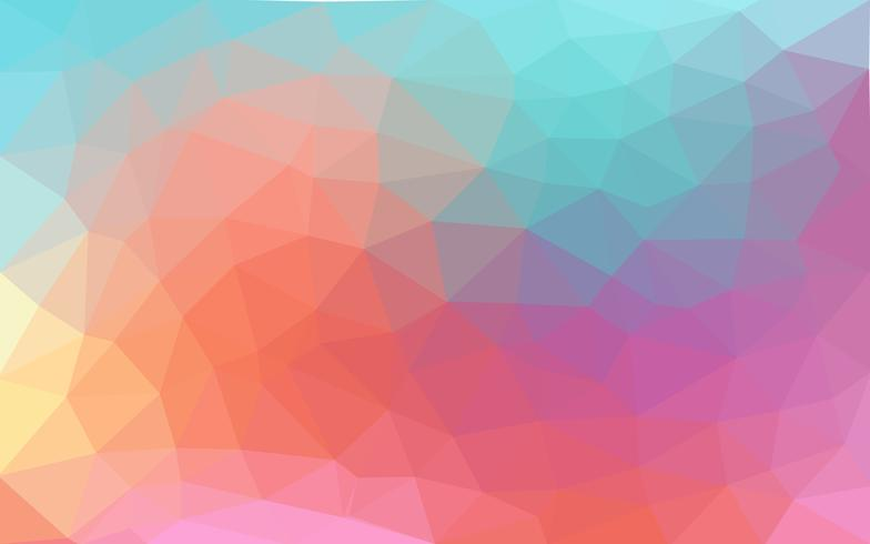 Light pastel color vector Low poly crystal background