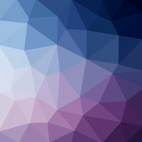 Luce blu scuro vettoriale Low poly crystal background. Modello di progettazione poligono. Basso poli illustrazione sfondo.