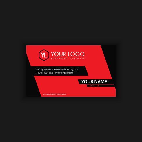 Modelo de cartão moderno criativo e limpo com preto vermelho