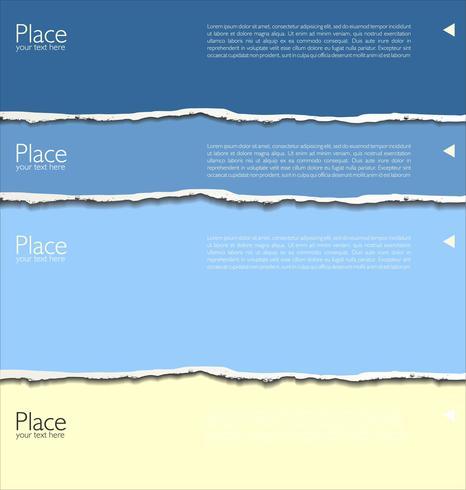 kleurrijk gescheurd papier vector