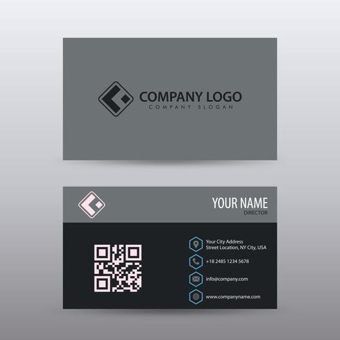 modern creative and clean business card template with dark. Black Bedroom Furniture Sets. Home Design Ideas
