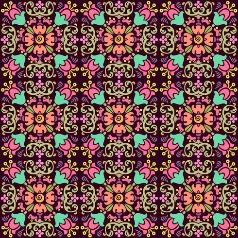 seamless floral pattern with smooth color background