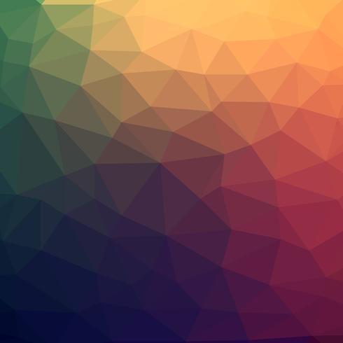 Fundo poli abstrato colorido abstrato do vetor com teste padrão futurista do inclinação morno.