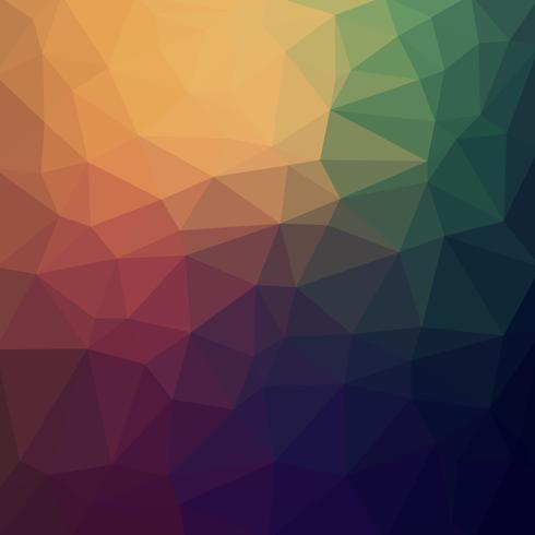 Abstract Colorful retro Low poly Vector Background with warm gradient futuristic pattern.
