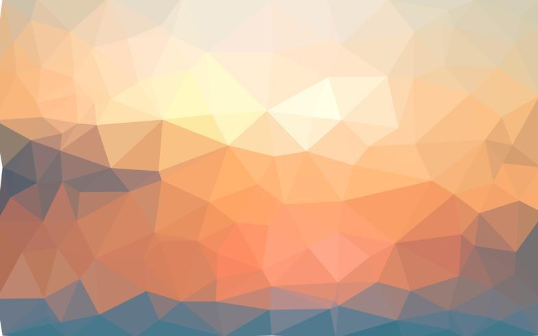 Hellgelber Sommervektor Niedriger Polykristallhintergrund. Polygon vektor
