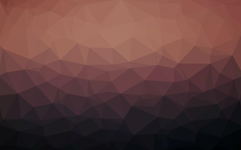 Lichtbruine donkere vector Lage polykristalachtergrond. Polygon des