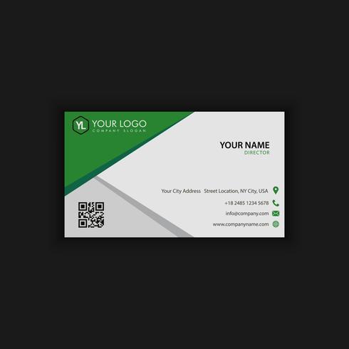 Modello moderno creativo e pulito del biglietto da visita con buio verde