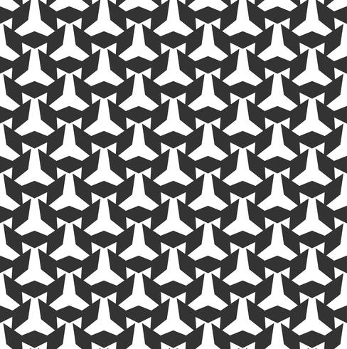 Abstraktes geometrisches nahtloses Muster. Wiederholen der geometrischen Schwarzweiss-Beschaffenheit.