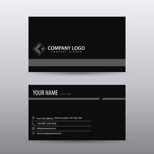 Modello di biglietto da visita creativo e pulito moderno con colo nero