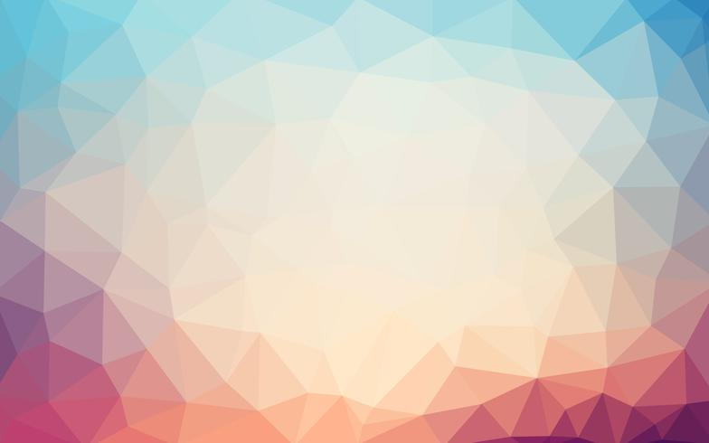 Light retro pasthel color vector Low poly crystal background. Po