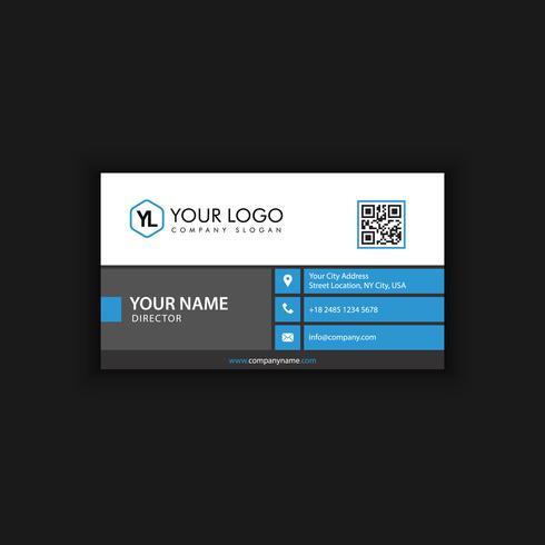 saubere blaue Visitenkarte