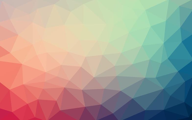 Lichtblauwe rode vector Lage polykristalachtergrond. Polygoon desig