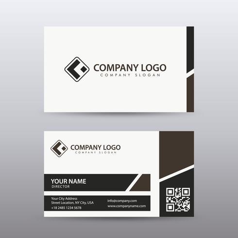 Plantilla moderna y limpia moderna de la tarjeta de visita con color oscuro. Vector completamente editable.