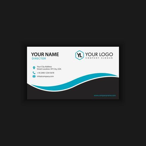 Modello moderno creativo e pulito del biglietto da visita con buio blu