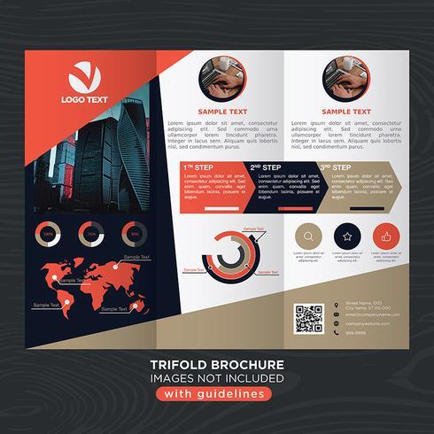 Brochure Trifold Business Fold vecteur