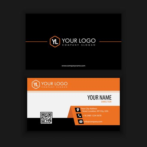 Modern Creative and Clean Business Card Template with orange col