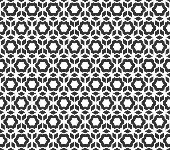 Abstract geometrisch heaxgon Naadloos patroon. Herhalende geometrische zwart-witte textuur. geometrische decoratie