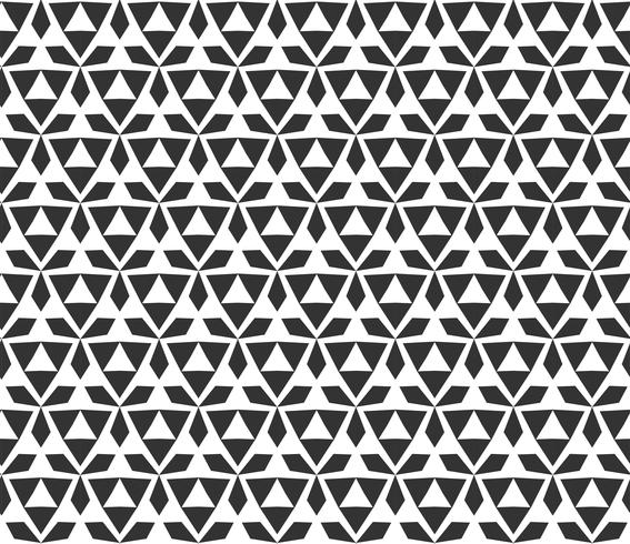 Abstract geometric triangle Seamless pattern . Repeating geometric Black and white texture.