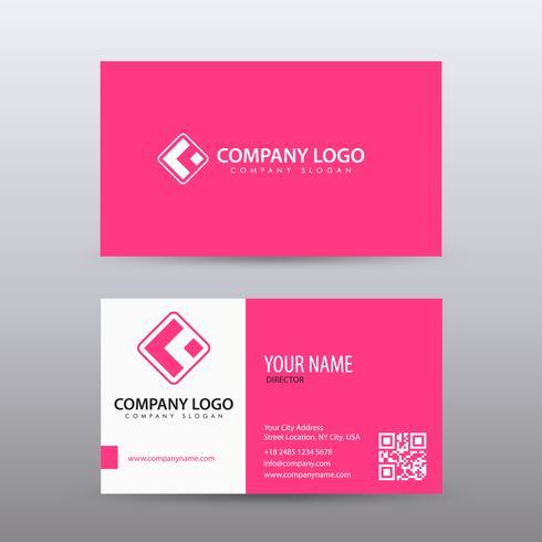 Modelo de cartão moderno criativo e limpo com cor-de-rosa