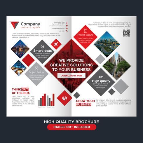 Brochura Square Business Fold vetor
