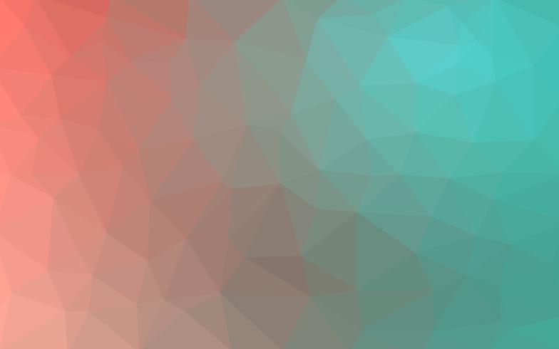 Vecteur rouge vert clair Fond de cristal low poly. Polygone desi