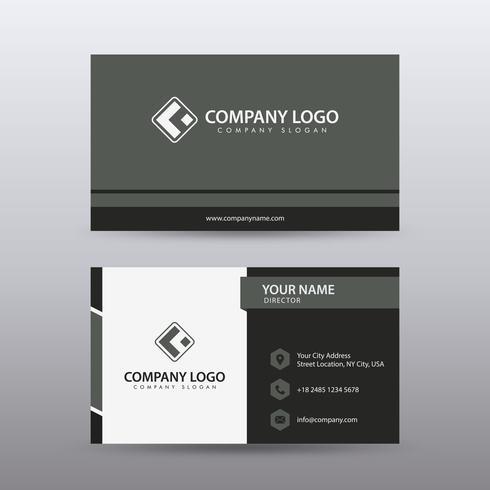 Modernt kreativt och rent visitkort med röd svart färg. Fullt redigerbar vektor.